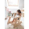 Table blanche JANE avec une chaise