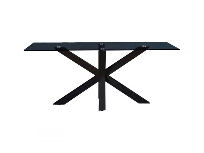 Table à manger fixe ASTOR NOIR 180 x 100