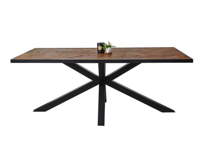 Table 200 cm TAILT Bois Acacia massif et pieds métal