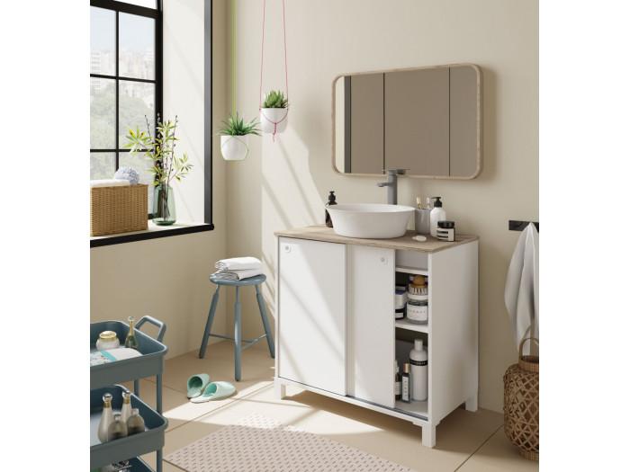 Meuble de salle de bain 80 cm SOLENE