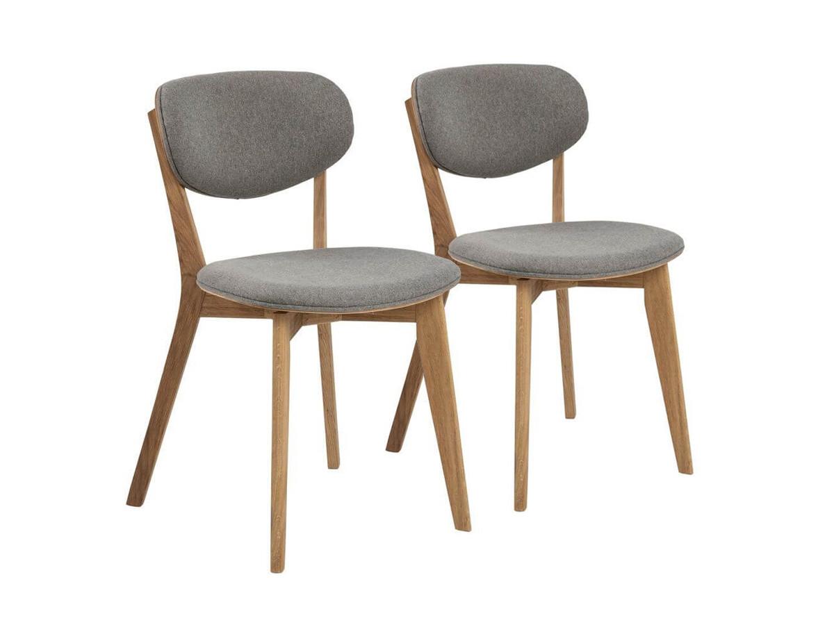 Lot de 2 chaises de table MINSKI gris