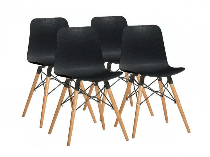 Ensemble de 4 chaises HITA Noir