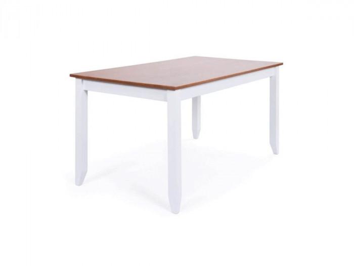 Table à manger WINTERLAND 160cm Blanc et bois