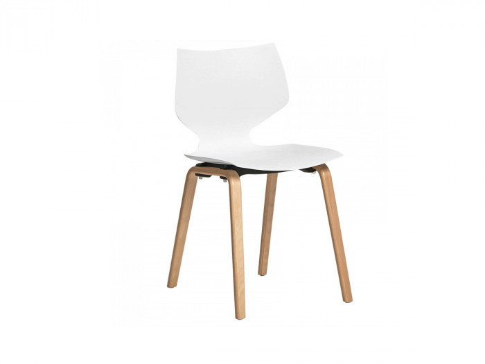 Ensemble de 4 chaises ZOTIO blanc