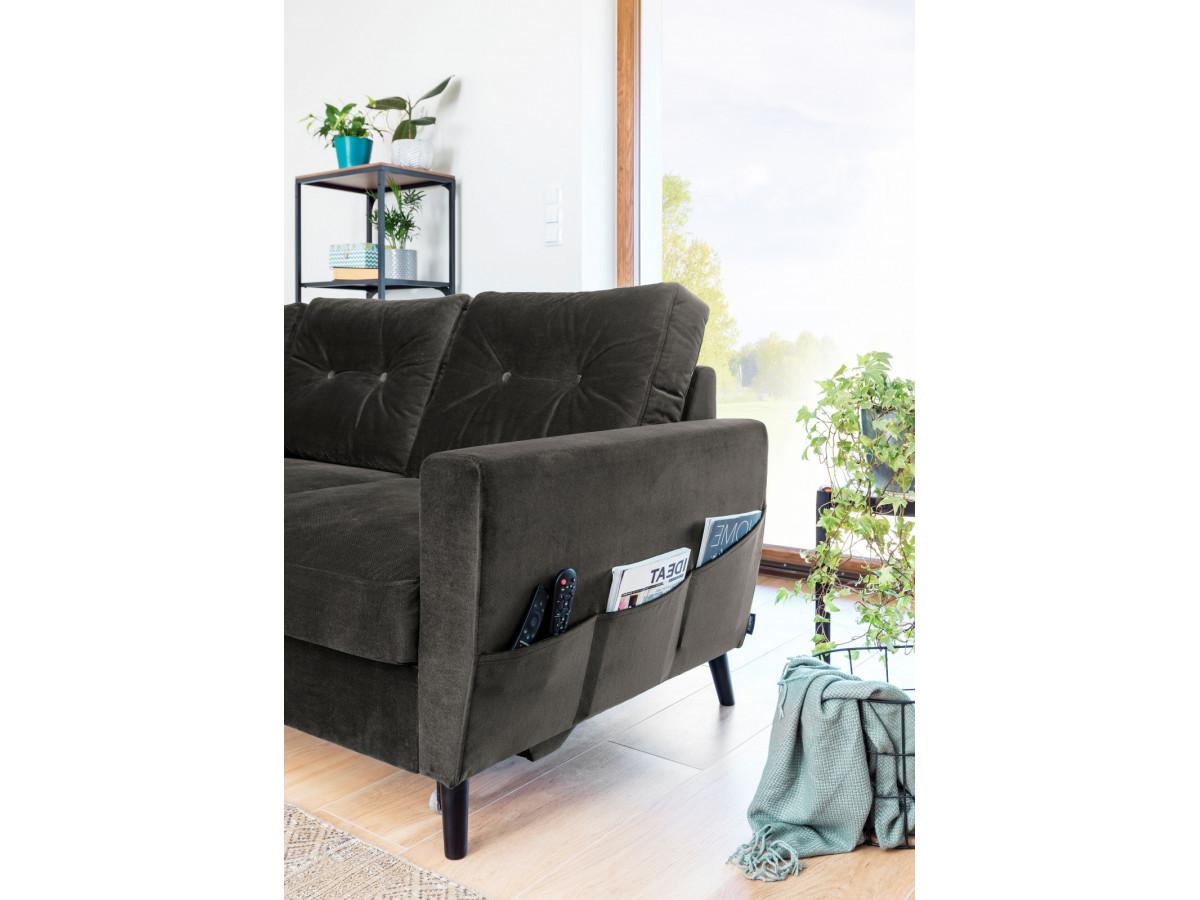 Canapé d'angle convertible Scandi L VELOURS