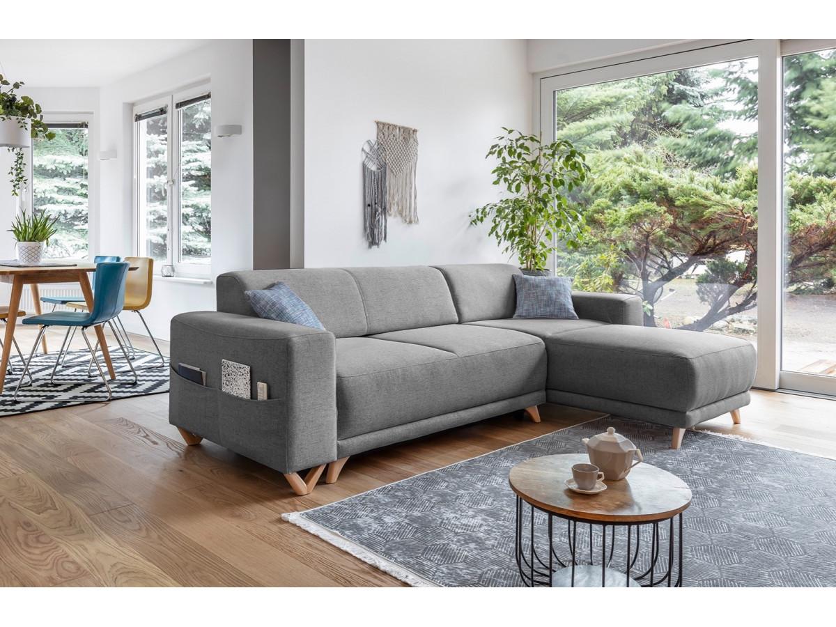 Canapé d'angle réversible convertible coffre BELLA