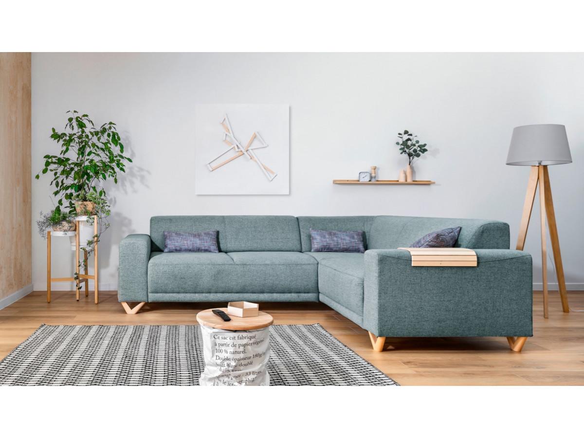 Canapé d'angle panoramique fixe BELLA