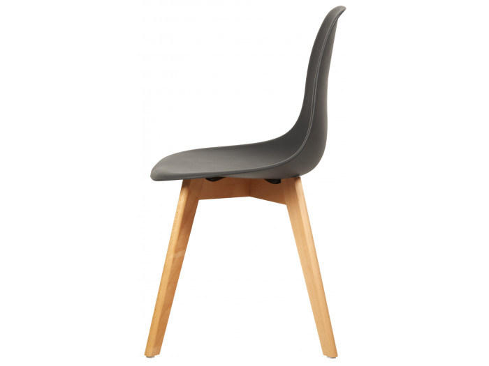 Lot e 4 chaises Sacha style scandinave