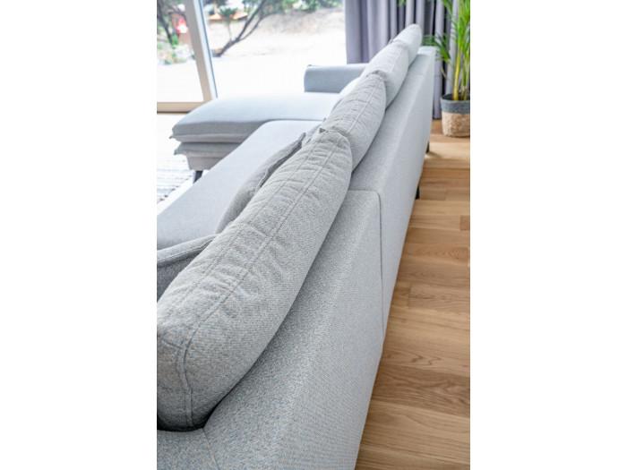 Canapé d'angle fixe coffre BOHO