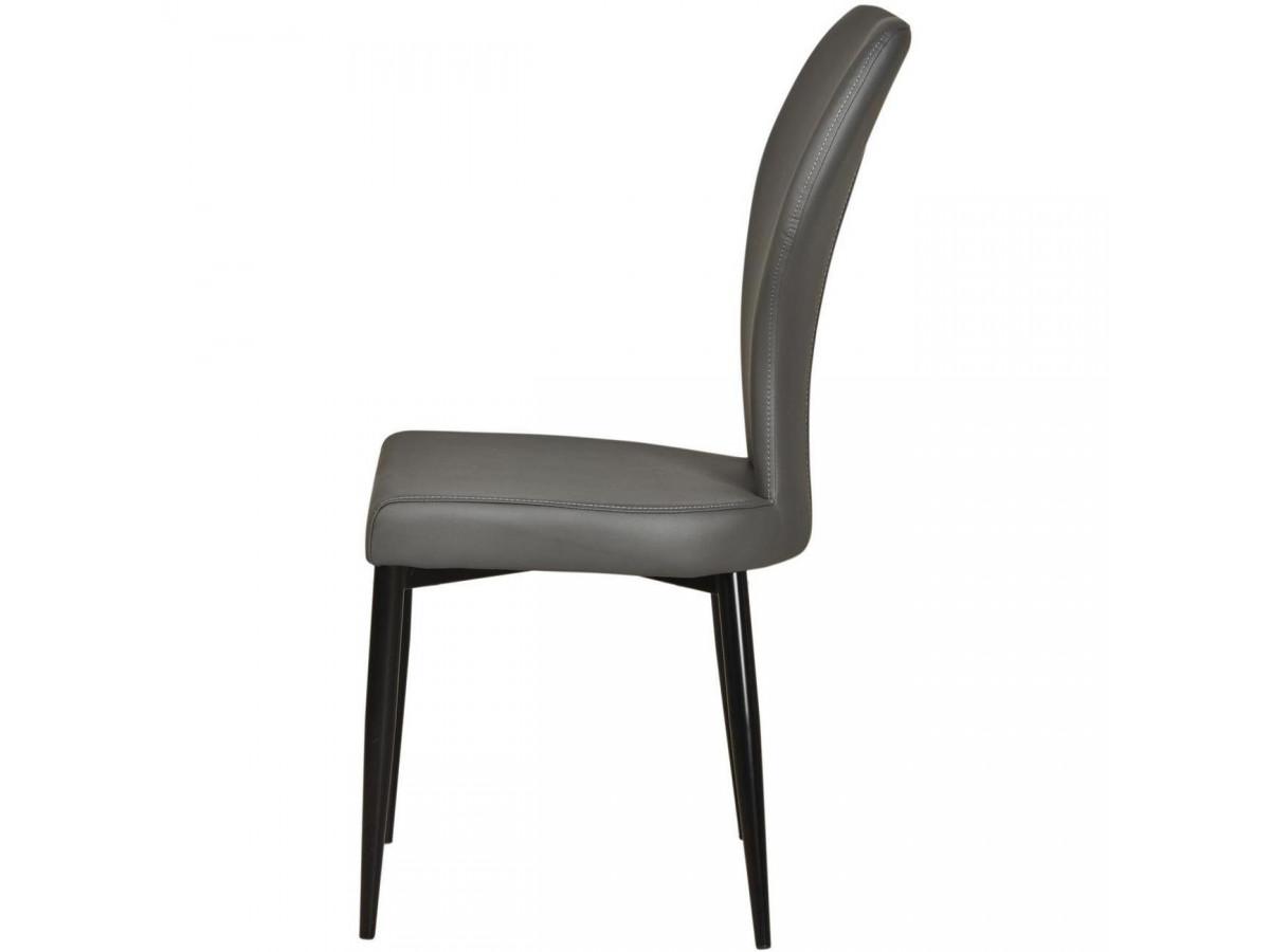 Lots de 2 chaises de séjour en cuir VICTORIA