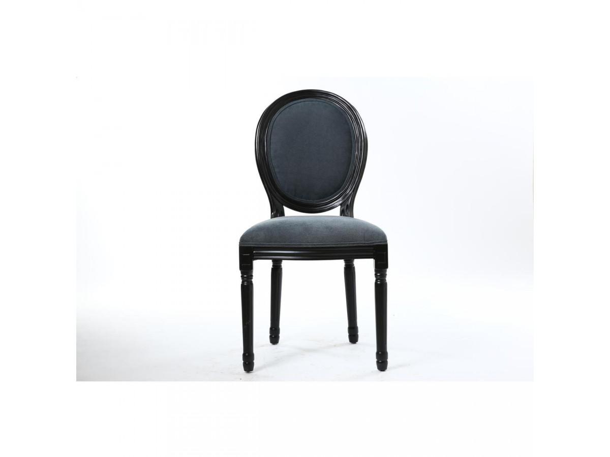 Lot de 2 chaises élégantes en velours MEDAILLON
