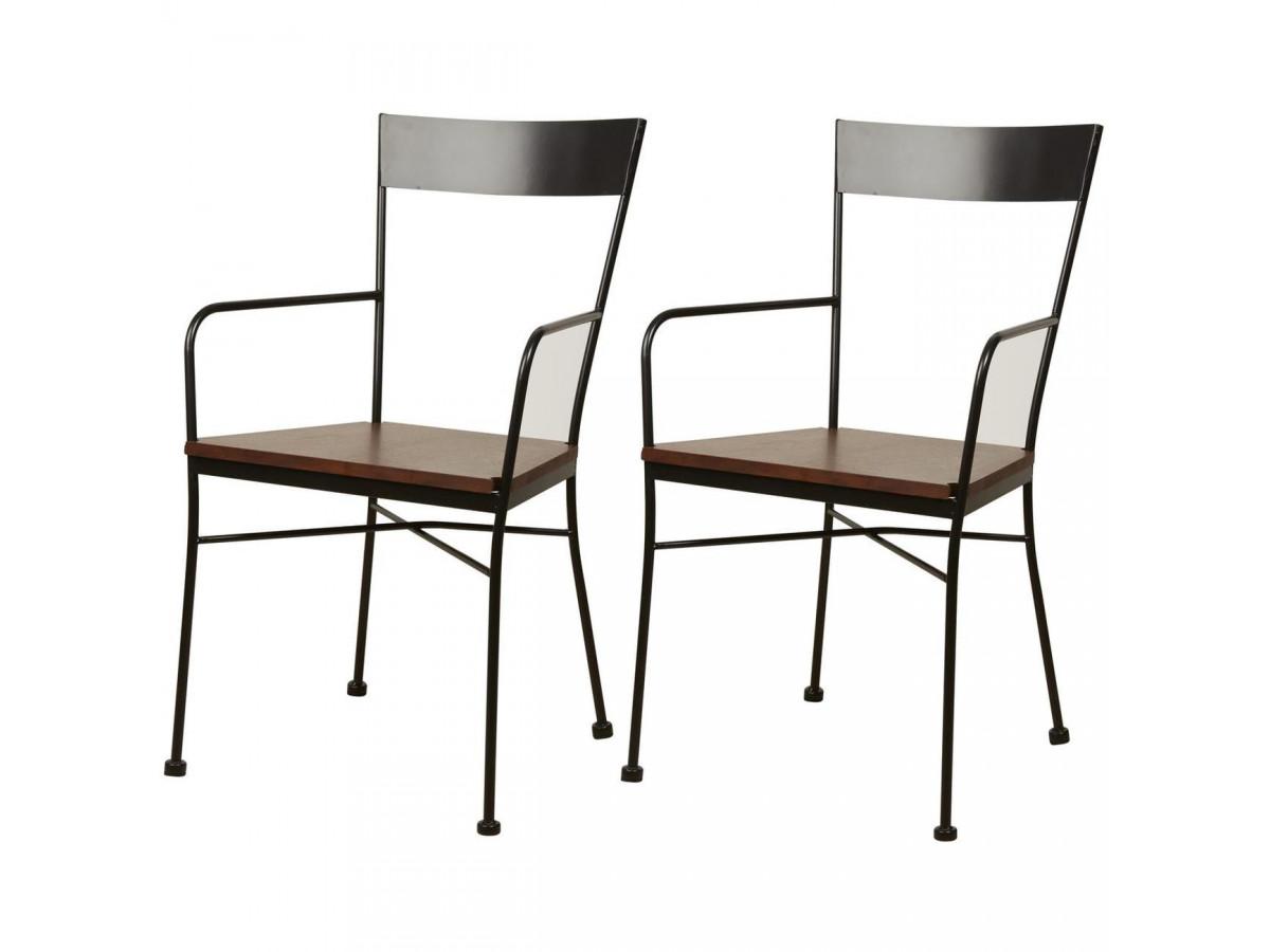 Lot de 2 chaises en métal style industriel VOLTAGE