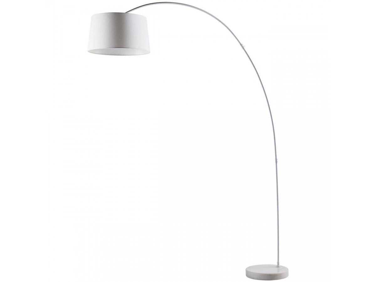 Lampadaire arc en métal Blanc
