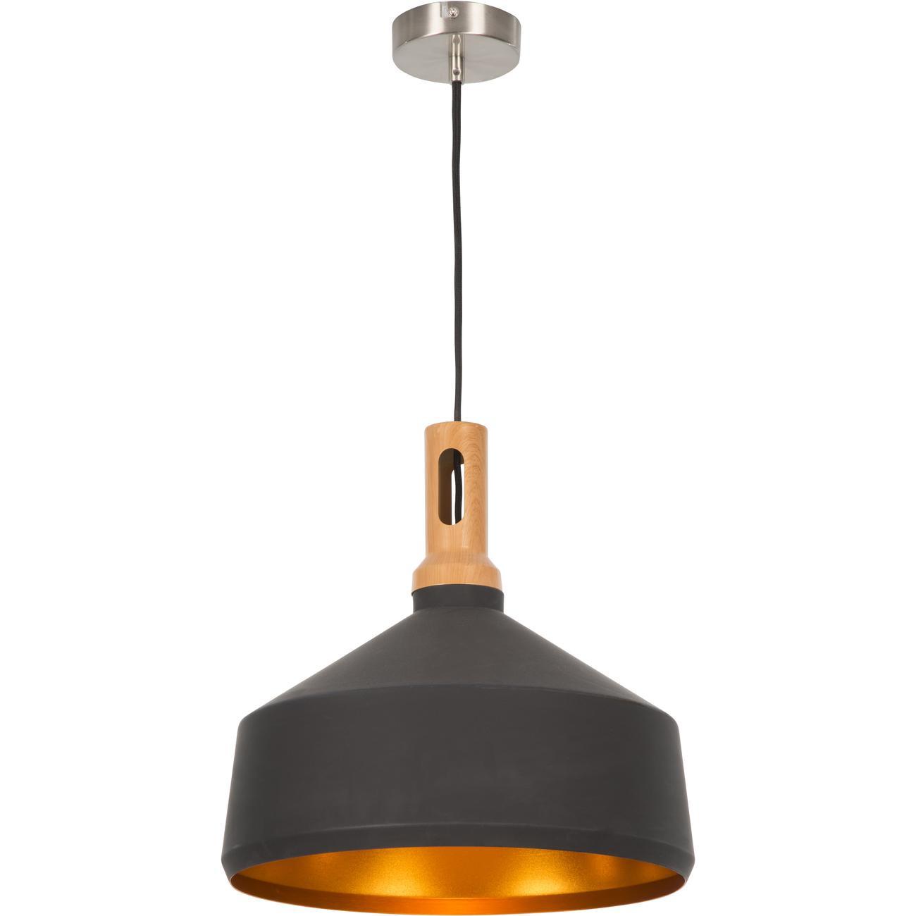 Suspension style moderne et industriel en metal noir
