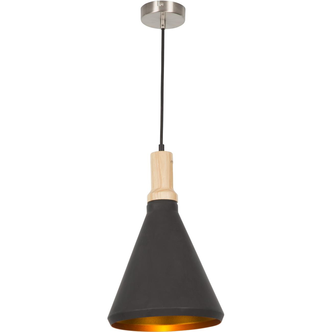 Suspension style moderne et industriel en metal noir
