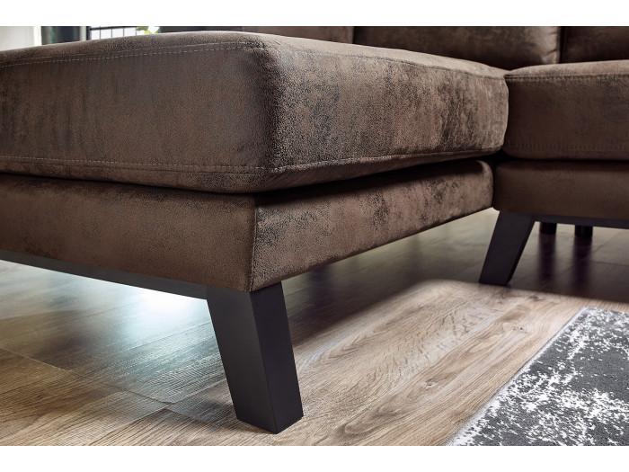 Canapé d'angle fixe SEATTLE VINTAGE