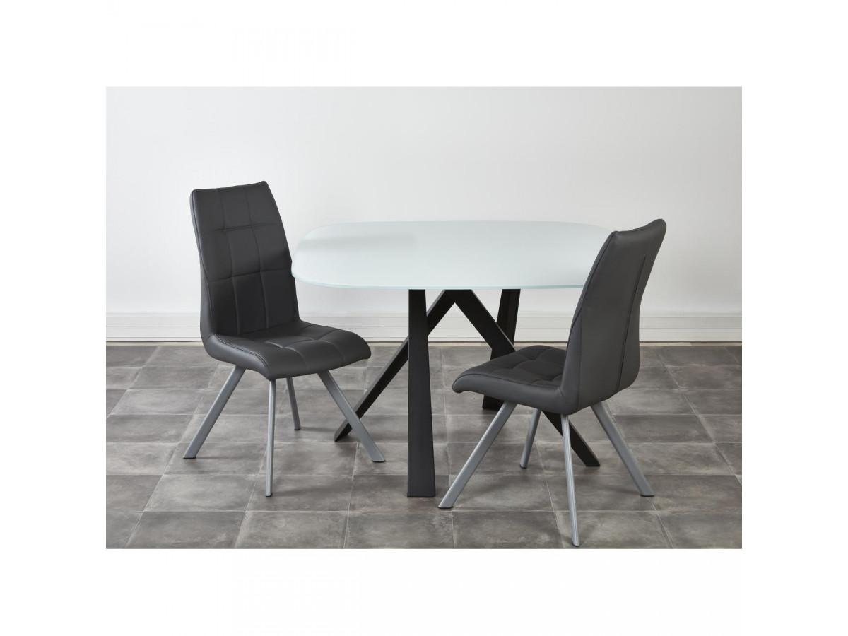 Lot de 2 chaises de salle à manger COCOON