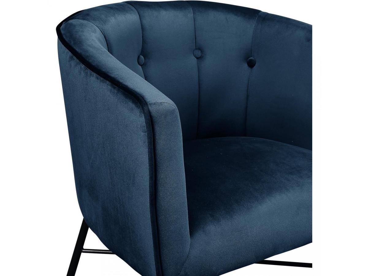 Fauteuil WEXFORD bleu polaire