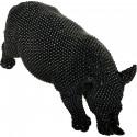 Statue elegante de rhinoceros en polyresine Rino Noir2