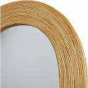 Miroir et tendance de forme ovale avec structure en rotin Baden4