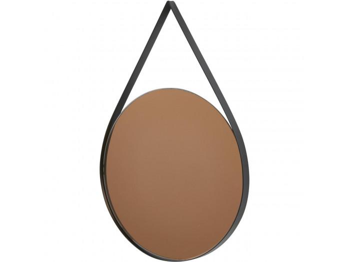 Miroir et tendance de forme ovale avec structure en metal Torn4