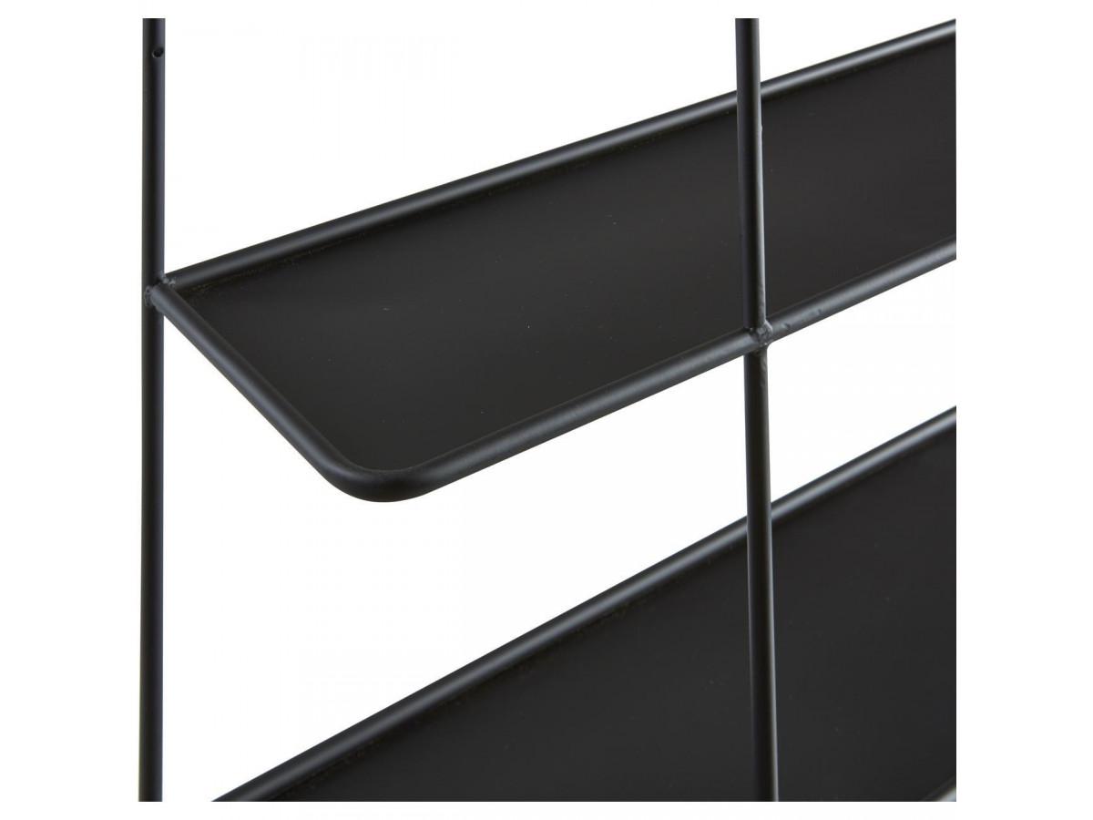 Etagere en metal noir avec tablette a fixer Verone5