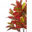 Plante artificielle en polyethylène a 128 feuilles avec son pot noir Olla3