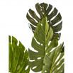 Plante artificielle en polyethylène a 7 feuilles et son pot noir Olla3