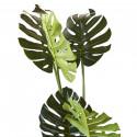 Plante artificielle en polyethylène a 10 feuilles et son pot noir Olla3