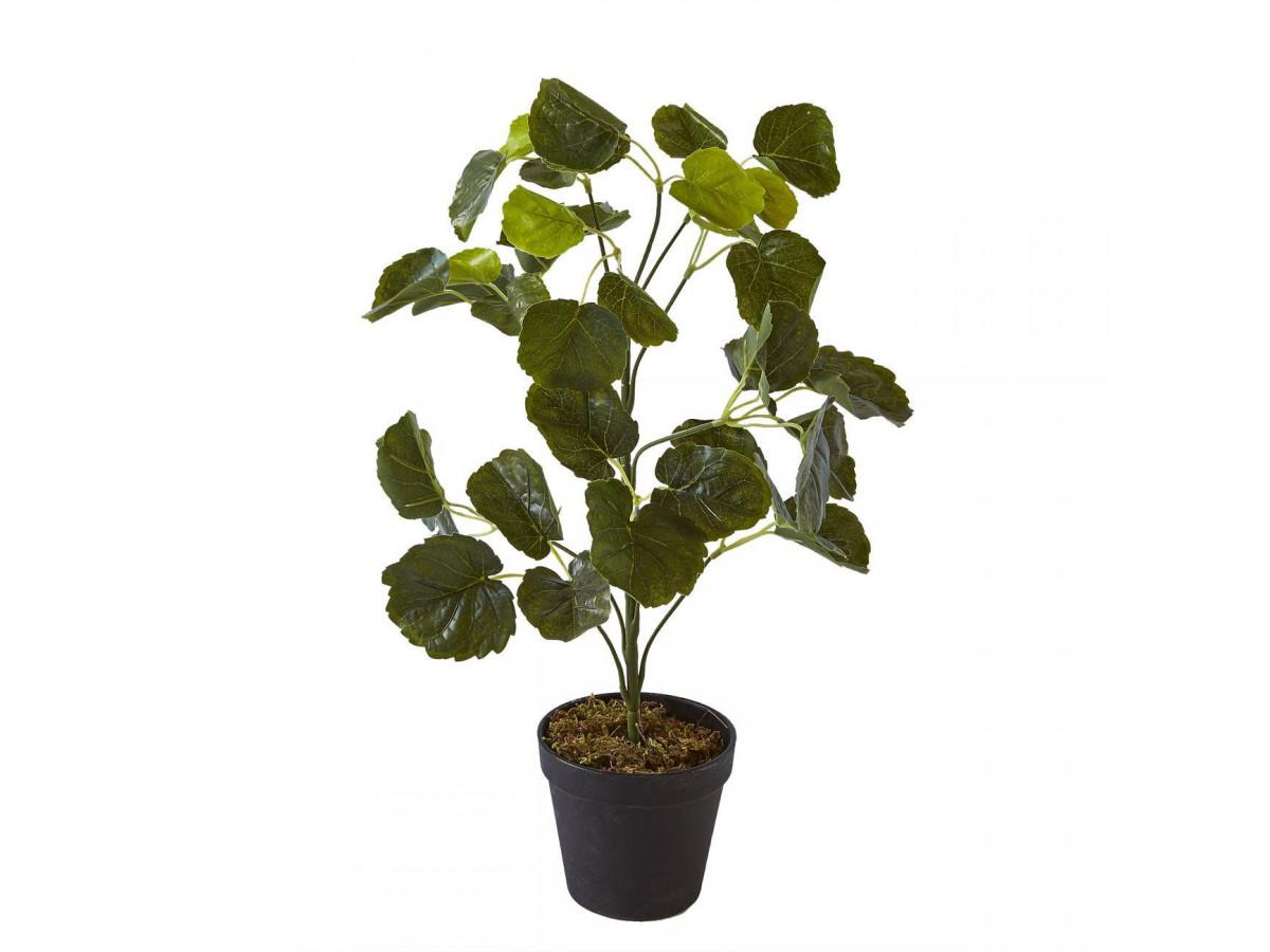 Plante artificielle OLLA 42 feuilles et pot noir