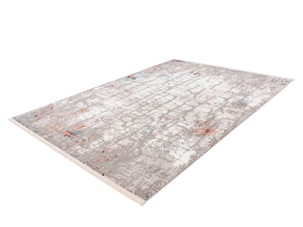 Tapis ARROW style vintage gris rayé