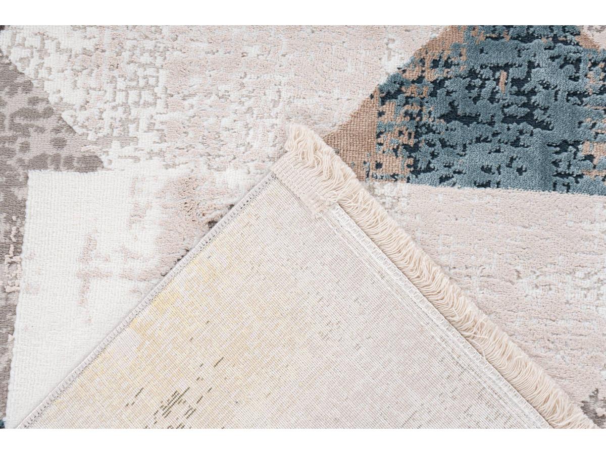 Tapis LORI Gris / Bleu 80cm x 150cm5
