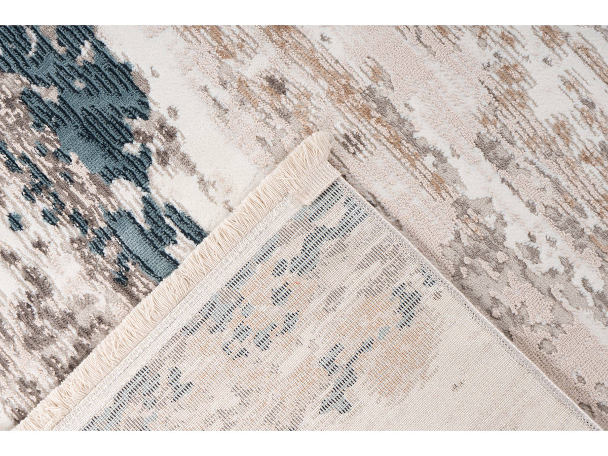 Tapis TORI Gris / Bleu 200cm x 300cm5