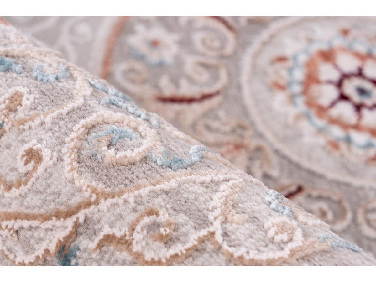 Tapis ZAIR Gris / Rose saumon 80cm x 150cm4