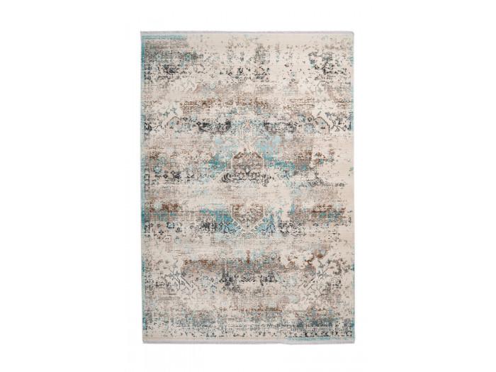 Tapis VERA Taupe / Turquoise 120cm x 170cm3