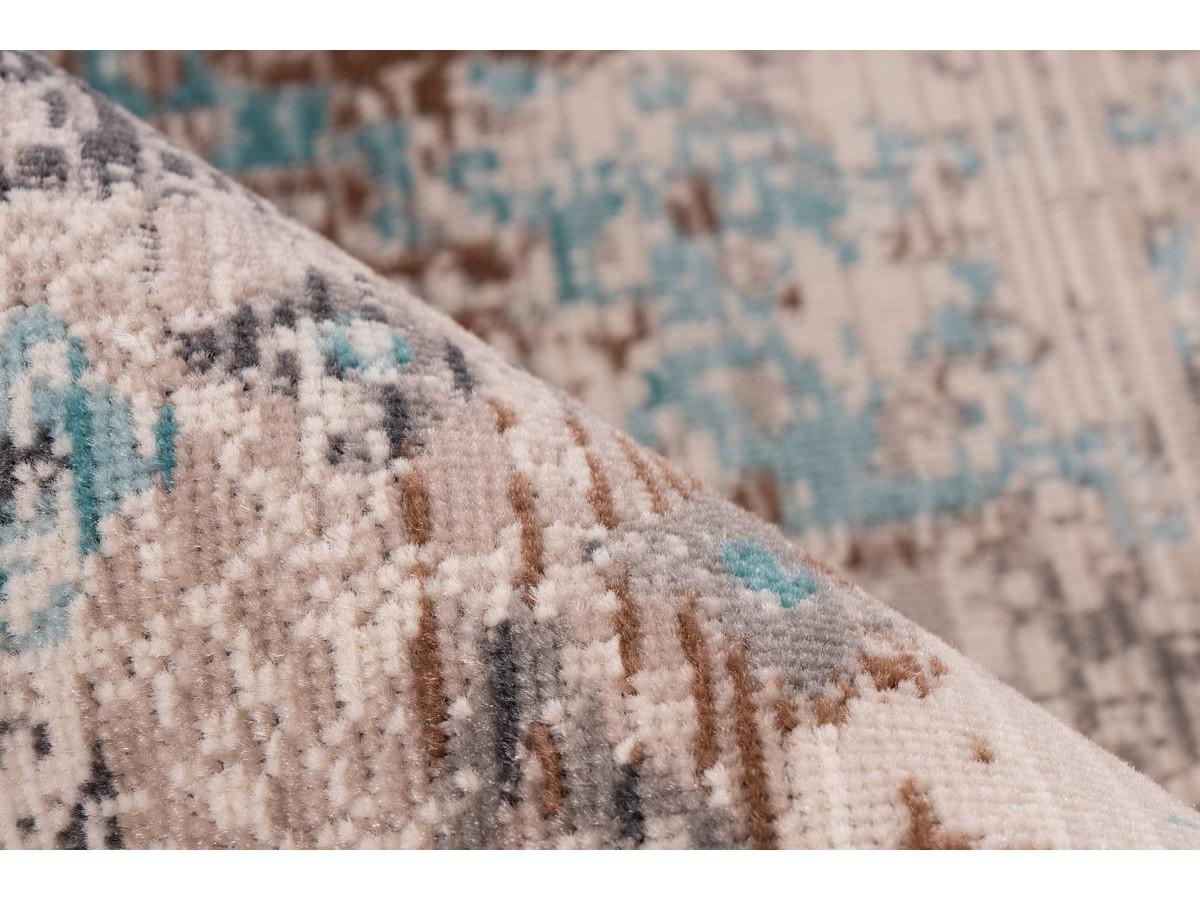 Tapis VERA Taupe / Turquoise 160cm x 230cm4