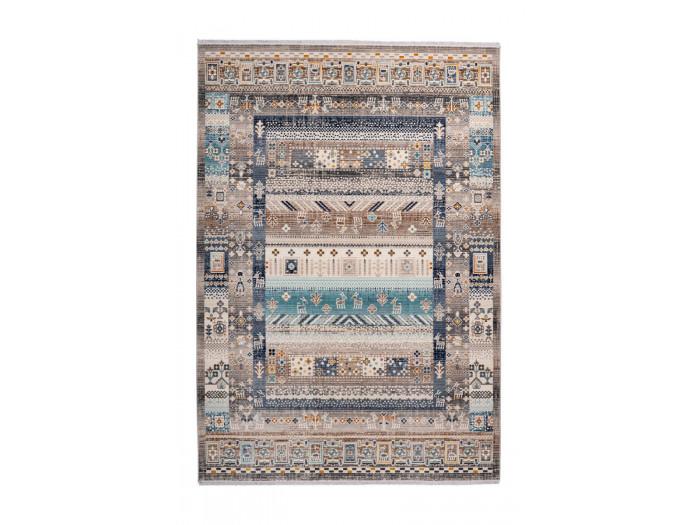 Tapis VIKI Marron / Bleu 120cm x 170cm3
