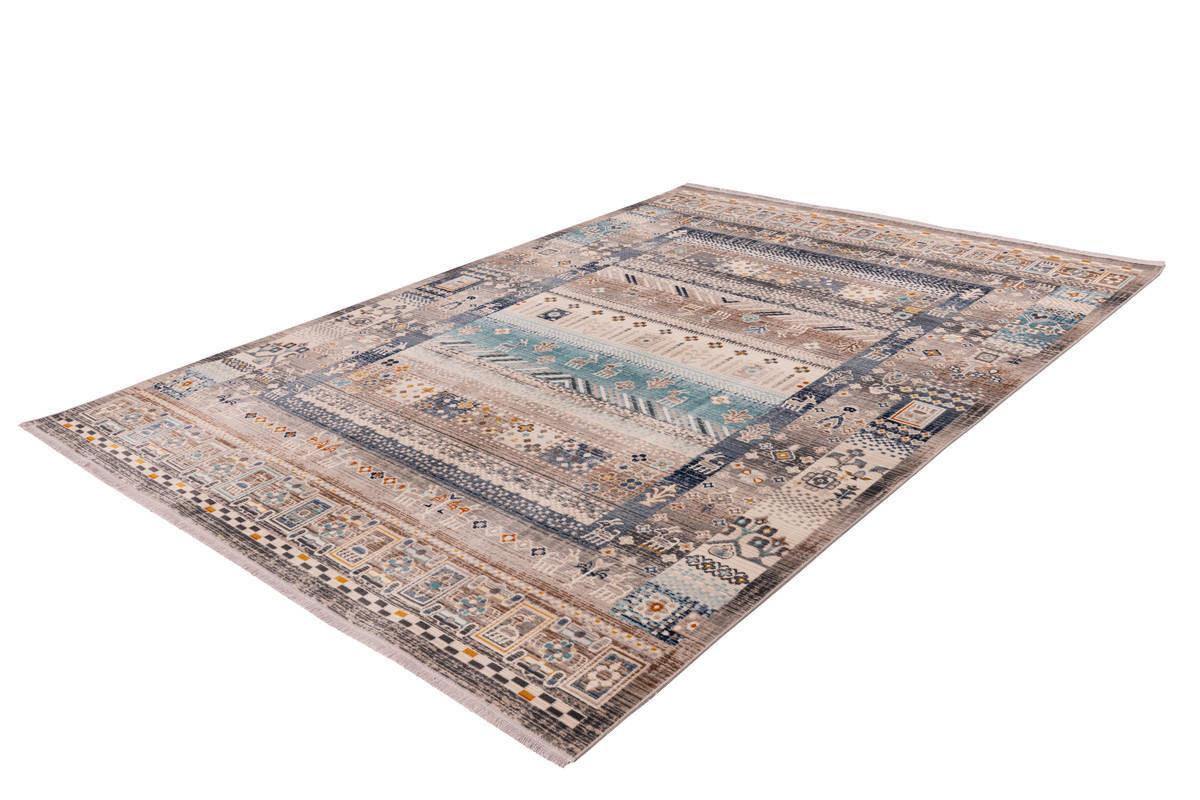 Tapis VIKI Marron / Bleu 80cm x 150cm2