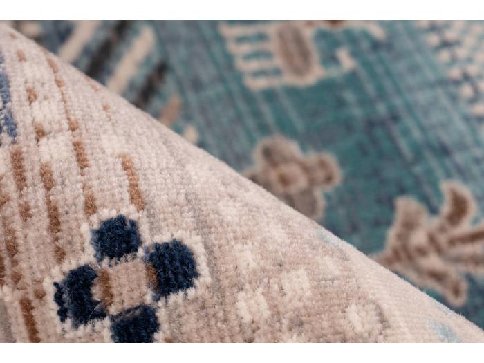 Tapis VIKI Marron / Bleu 80cm x 150cm4