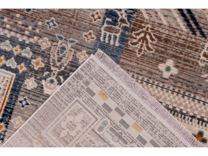 Tapis VIKI Marron / Bleu 80cm x 150cm5
