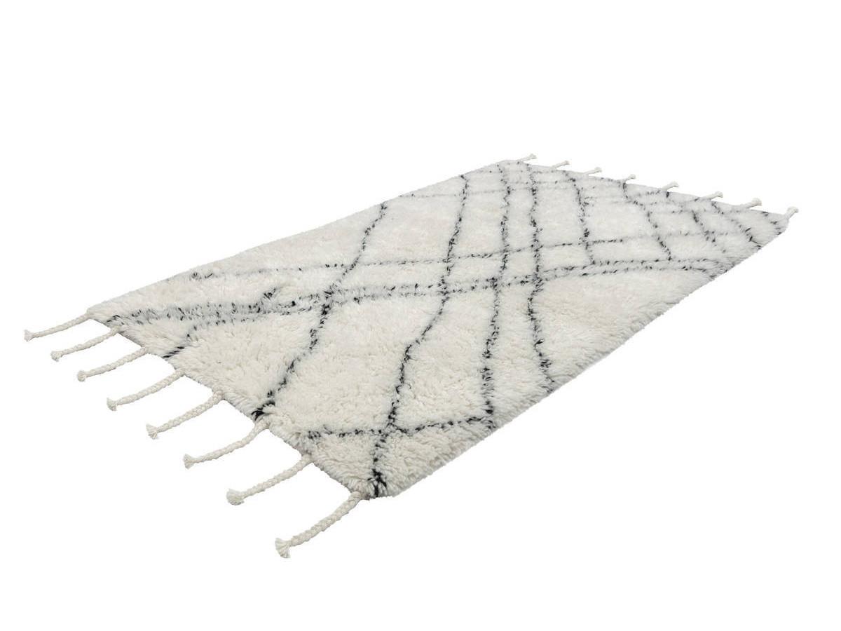 Tapis FEZ Noir / Ivoire 80cm x 150cm