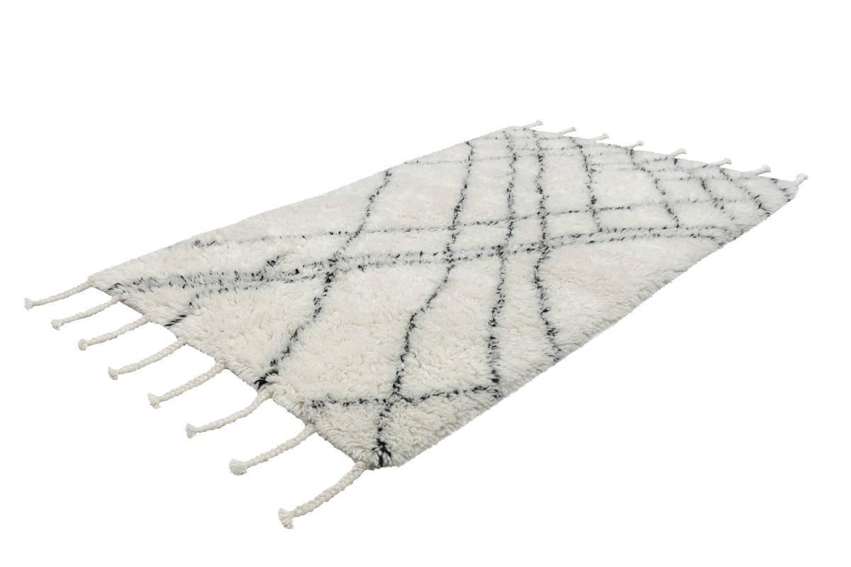 Tapis FEZ Noir / Ivoire 80cm x 150cm2