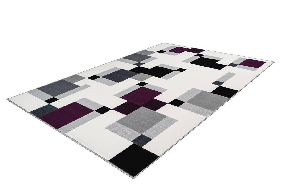 Tapis LUCIO Ivoire / Violet 120cm x 170cm2