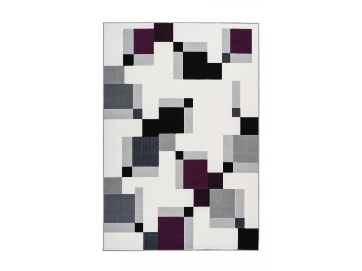 Tapis LUCIO Ivoire / Violet 80cm x 150cm3