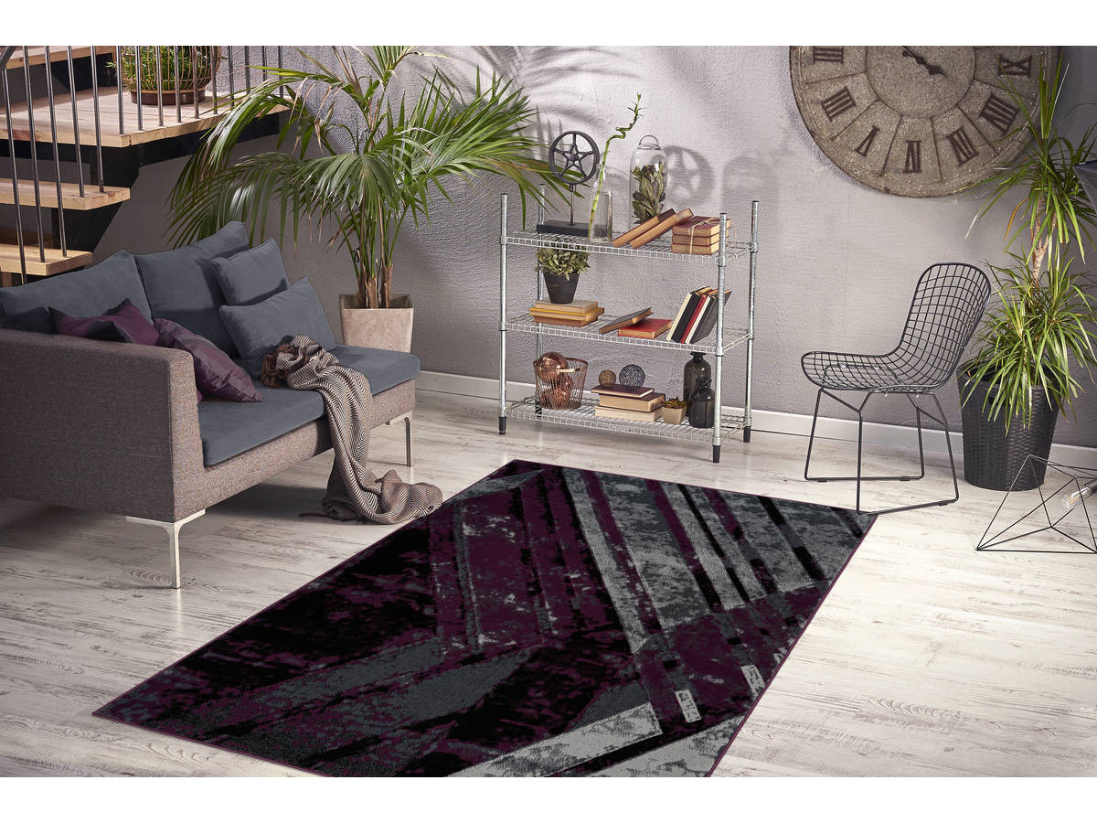 Tapis LUCIO Gris / Violet 160cm x 230cm1