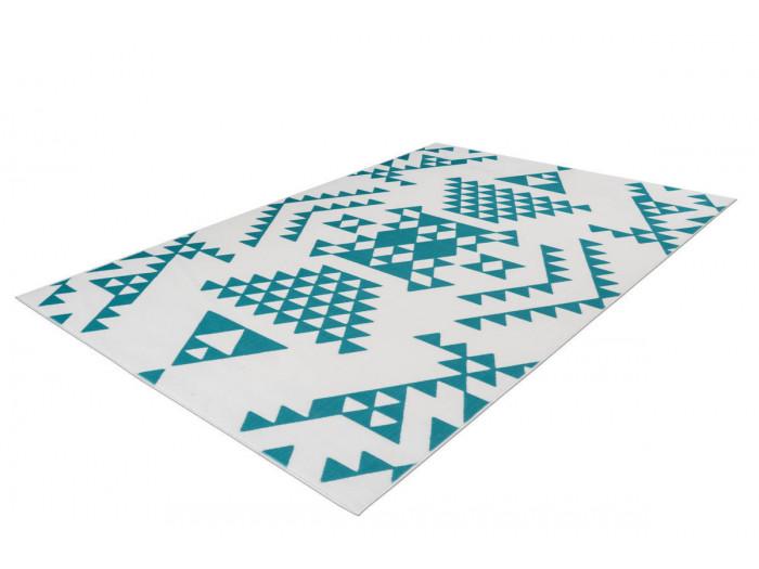 Tapis ZIKA Blanc/ Turquoise 200cm x 290cm
