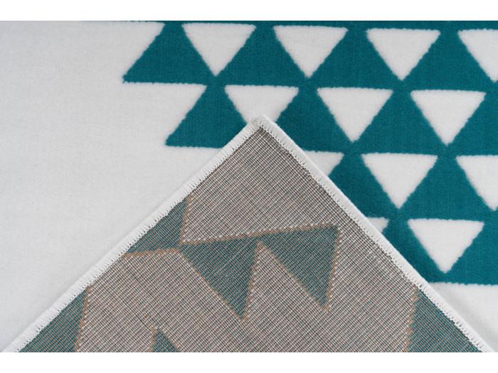 Tapis ZIKA Blanc/ Turquoise 80cm x 150cm5