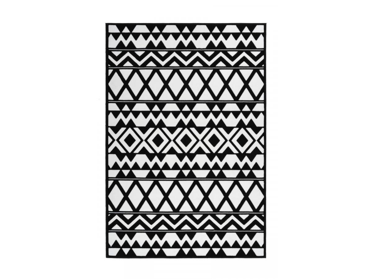 Tapis SAFI Noir / Blanc 120cm x 170cm3