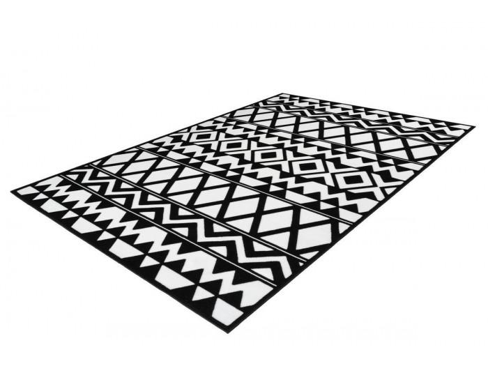 Tapis SAFI Noir / Blanc 80cm x 150cm