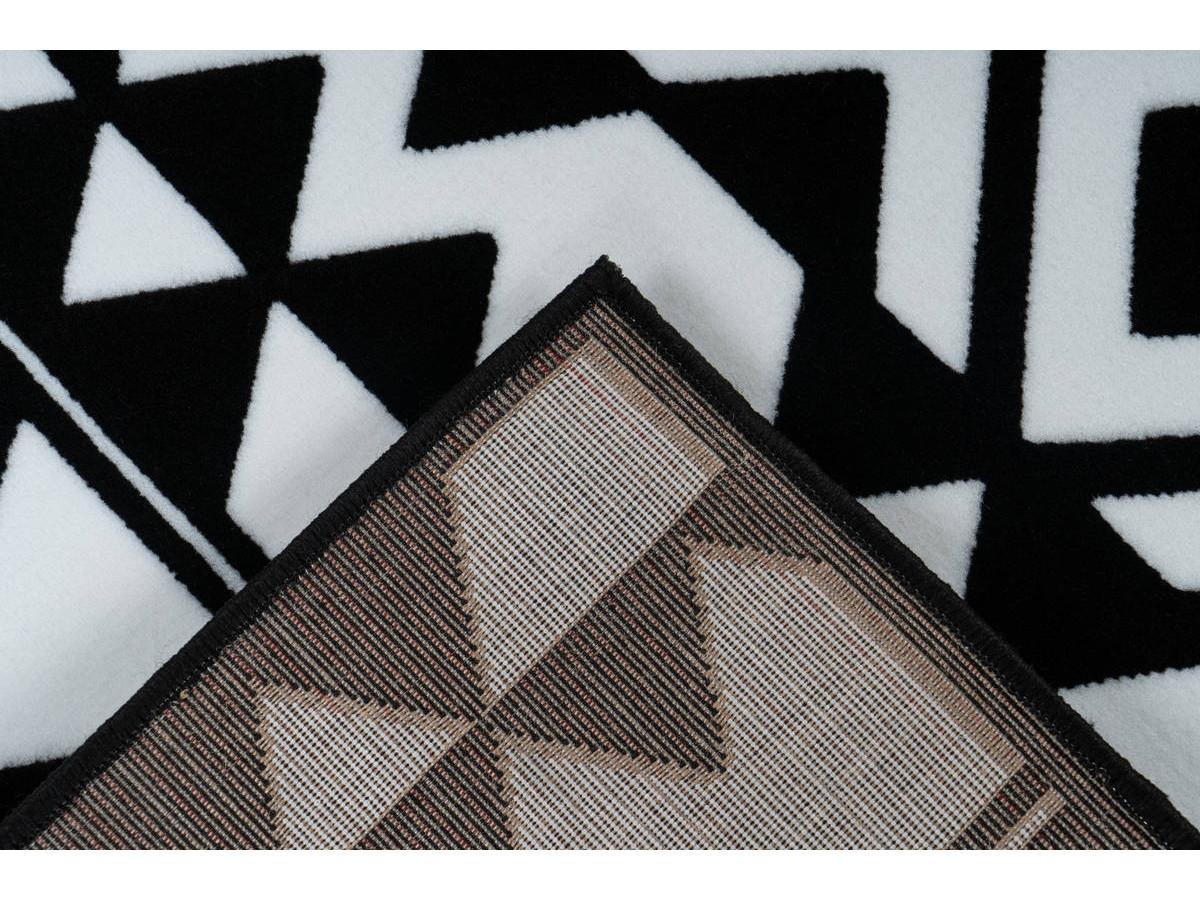 Tapis SAFI Noir / Blanc 80cm x 150cm5